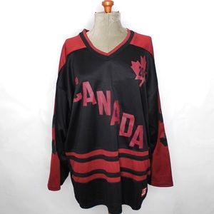 Other - Canada 2010 Black Maroon Jersey Size Large